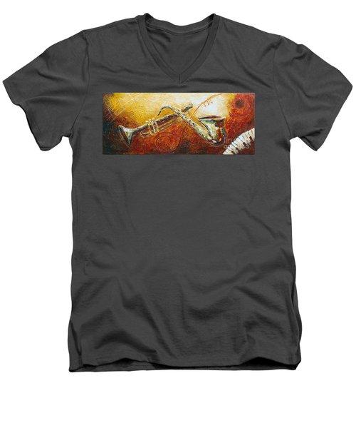 All That Jazz Men's V-Neck T-Shirt