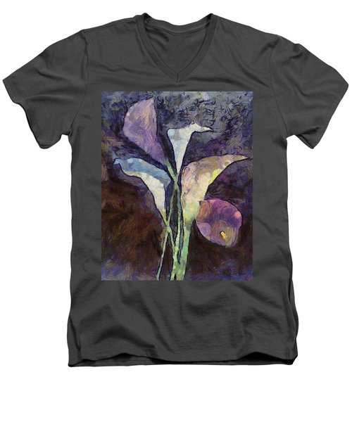 Men's V-Neck T-Shirt featuring the painting All The Sadness by Joe Misrasi