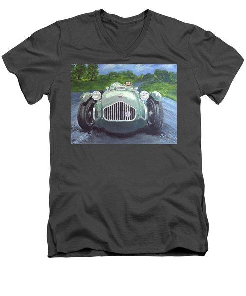 Allard J2x Men's V-Neck T-Shirt by Anna Ruzsan