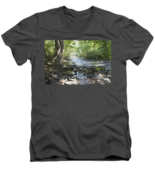 Men's V-Neck T-Shirt featuring the photograph Allen Creek by William Norton