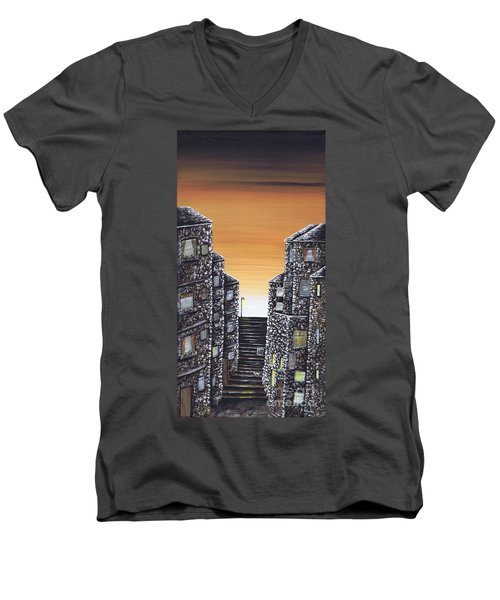 Alley Cat Men's V-Neck T-Shirt