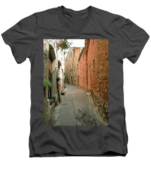 Alley In Tourrette-sur-loup Men's V-Neck T-Shirt