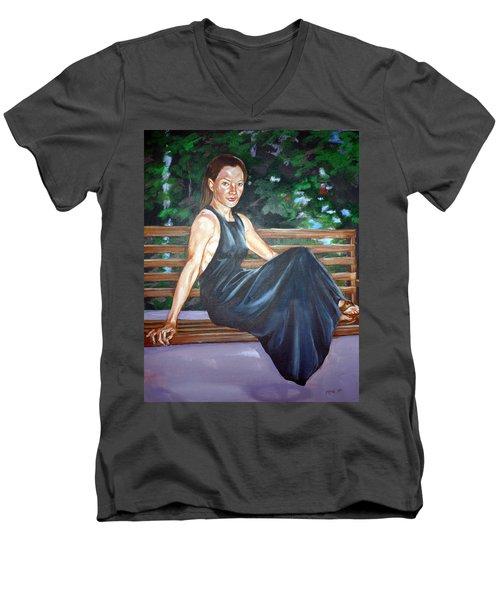 Allison Two Men's V-Neck T-Shirt by Bryan Bustard