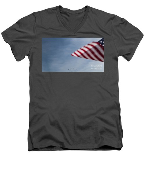 Men's V-Neck T-Shirt featuring the photograph Almost Home by Angela DeFrias