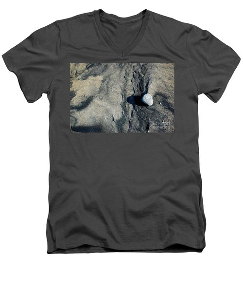 Men's V-Neck T-Shirt featuring the photograph Alone by Christiane Hellner-OBrien