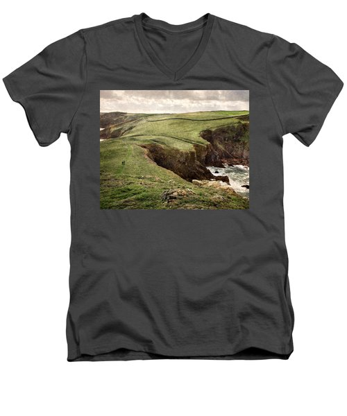 Along The Coast Path Men's V-Neck T-Shirt