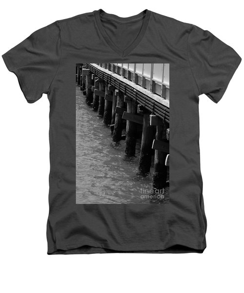 Along The Pier Men's V-Neck T-Shirt