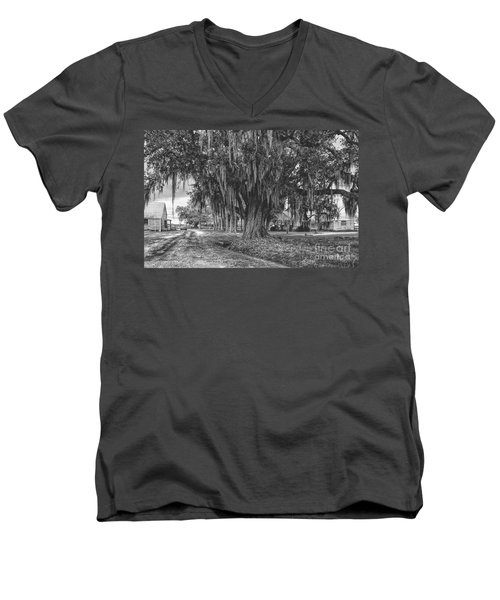 Along The River Road Near Vacherie La Men's V-Neck T-Shirt by Kathleen K Parker
