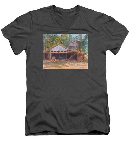 Alpine Groves Fruit Packing Shed Men's V-Neck T-Shirt