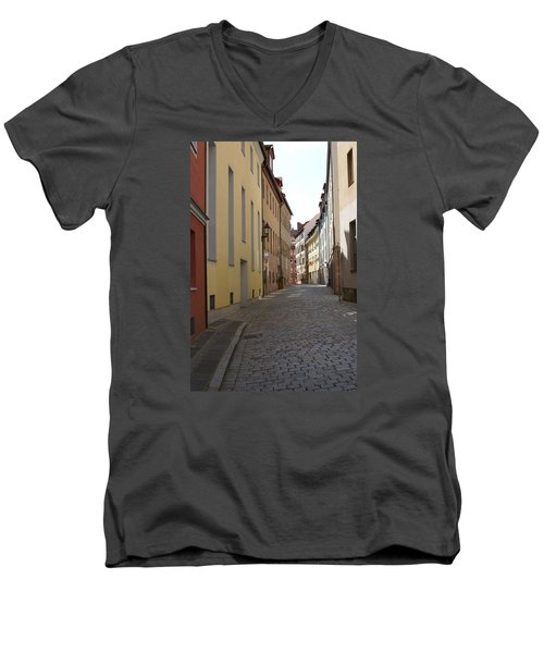 Men's V-Neck T-Shirt featuring the photograph Altstadt Nuernberg by Heidi Poulin