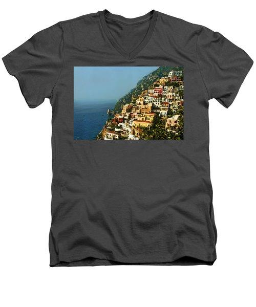 Amalfi Coast Hillside II Men's V-Neck T-Shirt