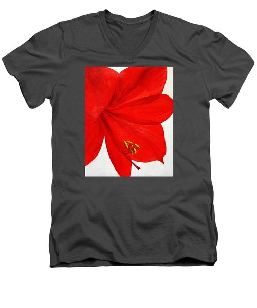 Amaryllis Flower Men's V-Neck T-Shirt