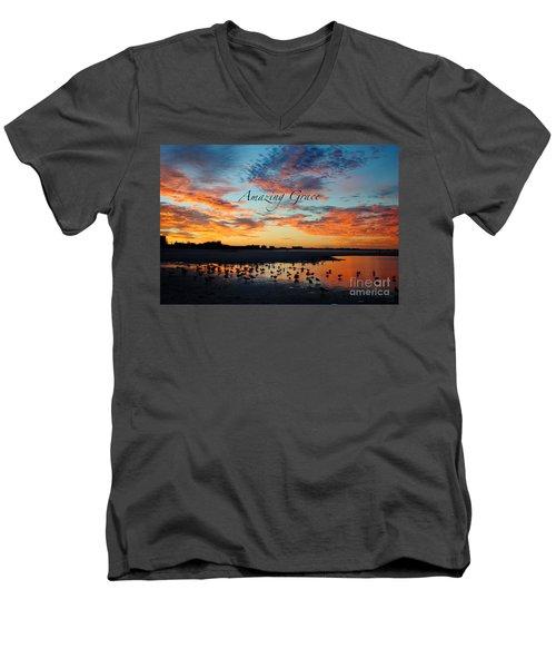 Amazing Grace On Siesta Key Men's V-Neck T-Shirt