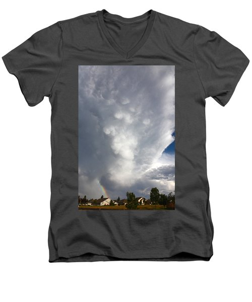 Men's V-Neck T-Shirt featuring the photograph Amazing Storm Clouds by Shane Bechler