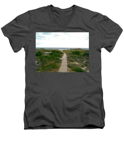 Amelia Island Beach Men's V-Neck T-Shirt