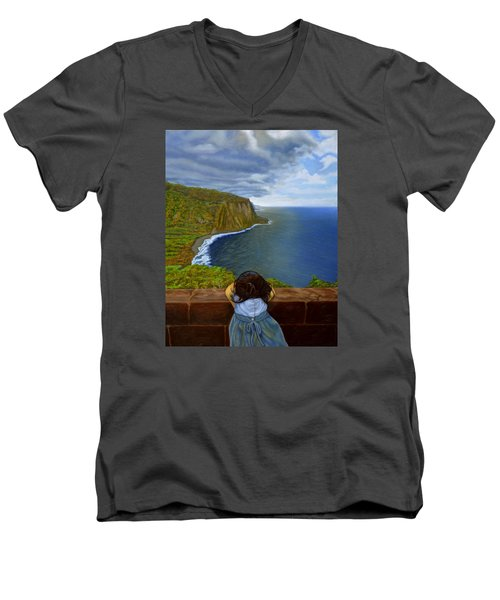 Amelie-an 's World Men's V-Neck T-Shirt by Thu Nguyen