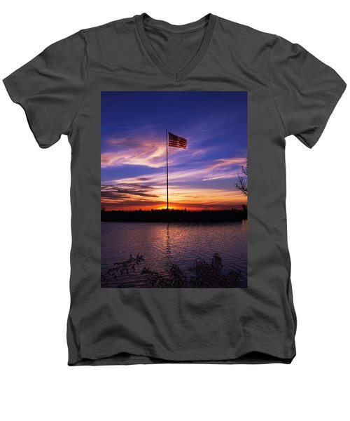 America The Beautiful Men's V-Neck T-Shirt