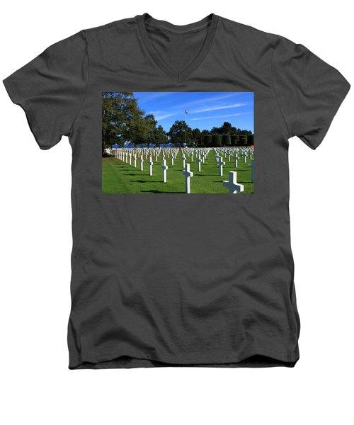 American Cemetery Normandy Men's V-Neck T-Shirt
