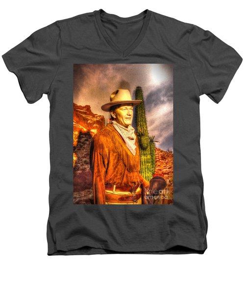 American Cinema Icons - The Duke Men's V-Neck T-Shirt