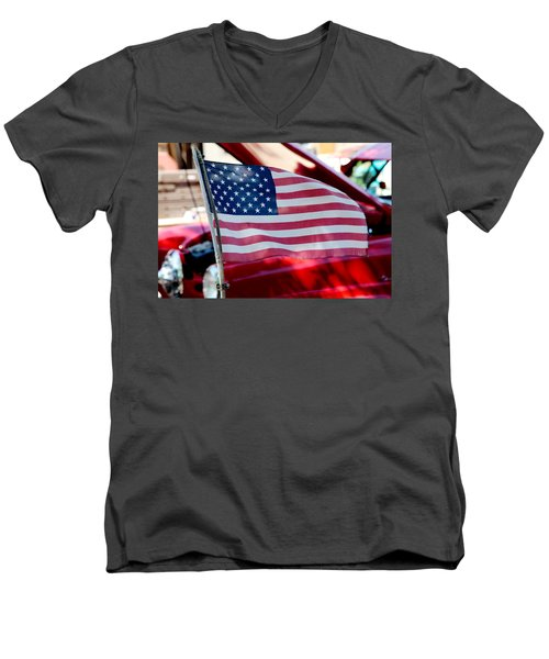 American Dream Men's V-Neck T-Shirt by Toni Hopper