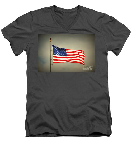 American Flag Men's V-Neck T-Shirt