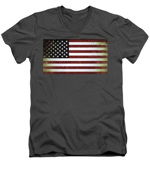 American Flag Men's V-Neck T-Shirt