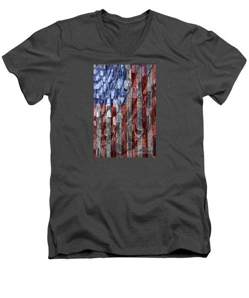 American Sacrifice Men's V-Neck T-Shirt by DJ Florek