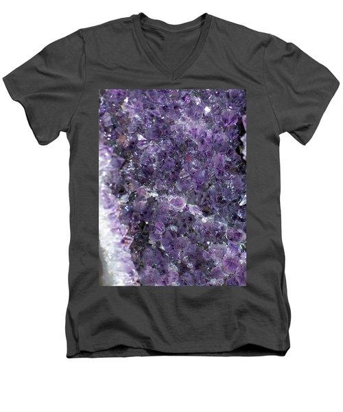 Amethyst Geode II Men's V-Neck T-Shirt