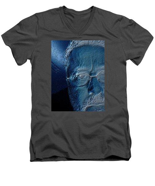 Amiblue Men's V-Neck T-Shirt by Jeff Iverson