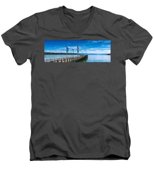 Ammersee - Lake In Bavaria Men's V-Neck T-Shirt by Juergen Klust