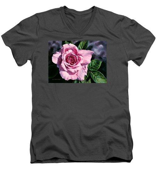 Amoure Men's V-Neck T-Shirt by Lynda Hoffman-Snodgrass