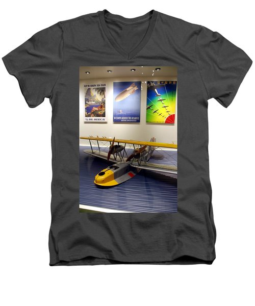 Amphibious Plane And Era Posters Men's V-Neck T-Shirt