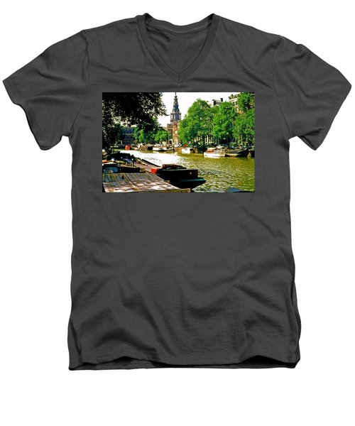 Men's V-Neck T-Shirt featuring the photograph Amsterdam by Ira Shander