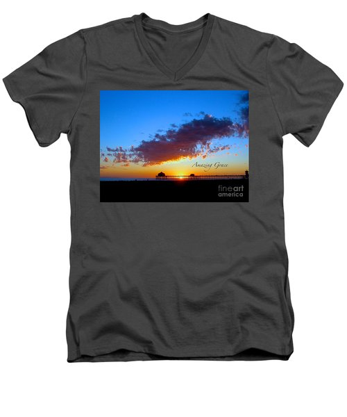 Men's V-Neck T-Shirt featuring the photograph Amzing Grace 7 by Margie Amberge