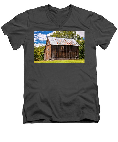 An American Barn 2 Men's V-Neck T-Shirt by Steve Harrington