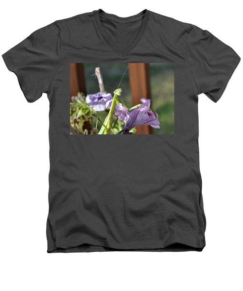 Men's V-Neck T-Shirt featuring the photograph An Autumn Surprise by Verana Stark