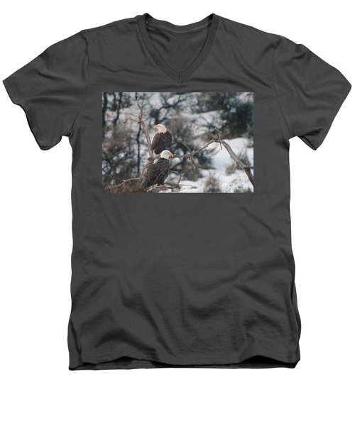 An Eagle Pair  Men's V-Neck T-Shirt