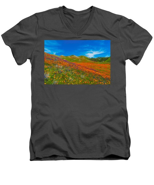 An Ocean Of Orange  Men's V-Neck T-Shirt