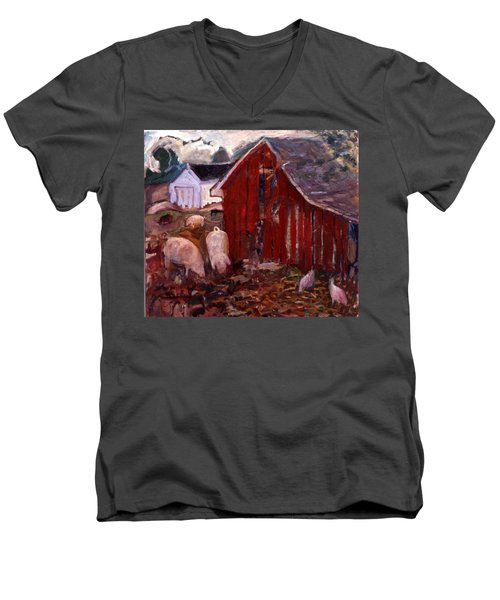 An017 Men's V-Neck T-Shirt