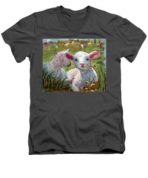 An031 Men's V-Neck T-Shirt