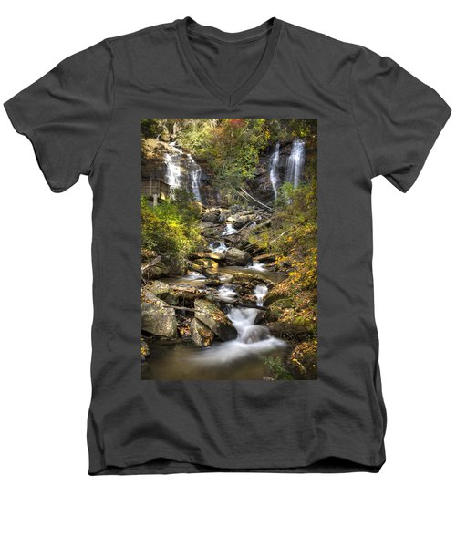 Ana Ruby Falls In Autumn Men's V-Neck T-Shirt