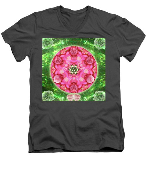 Anahata Rose Men's V-Neck T-Shirt