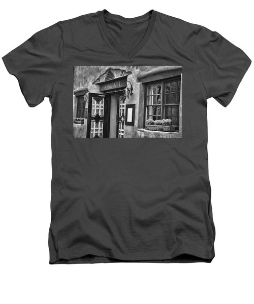 Men's V-Neck T-Shirt featuring the photograph Anasazi Inn Restaurant by Ron White