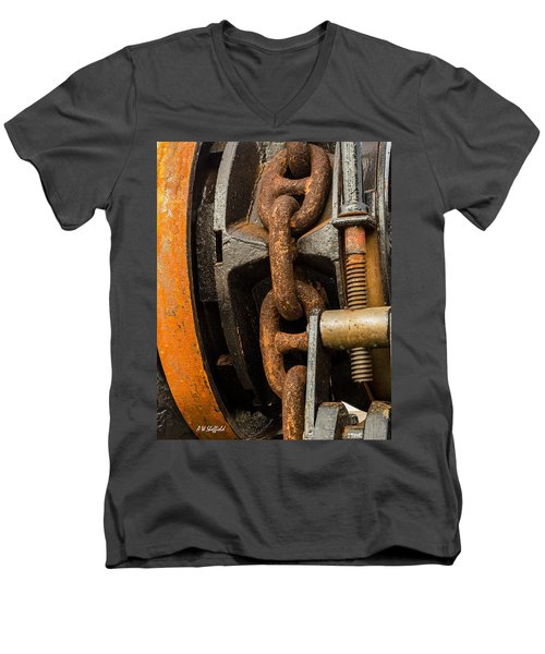 Anchor Chain - Tall Ship Elissa Men's V-Neck T-Shirt