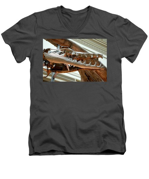 Ancient Crocodile Dinosaur Men's V-Neck T-Shirt