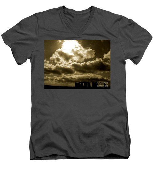Men's V-Neck T-Shirt featuring the photograph Ancient Mystery by Vicki Spindler