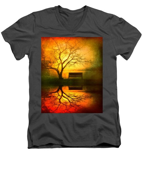 And I Will Wait For You Until The Sun Goes Down Men's V-Neck T-Shirt