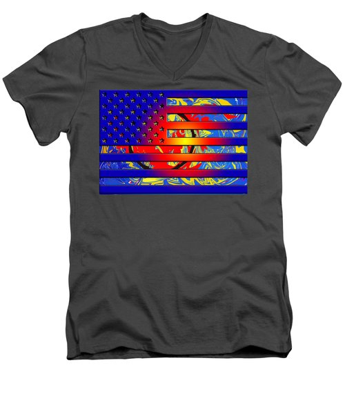And The Flag Still Stands Men's V-Neck T-Shirt