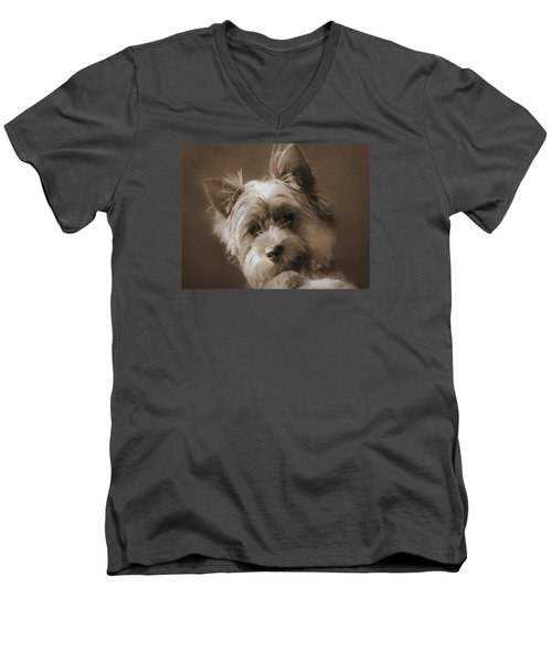 Men's V-Neck T-Shirt featuring the photograph And The Little Princess by I'ina Van Lawick