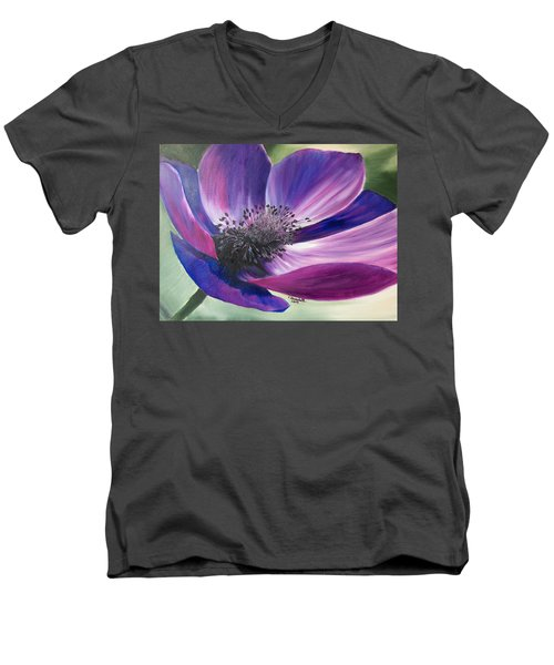 Anemone Coronaria Men's V-Neck T-Shirt